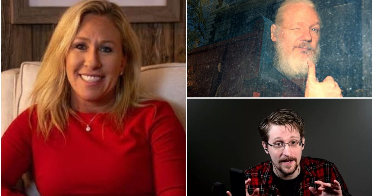 'Let Them Be Free!': Marjorie Taylor Greene Urges Trump to Pardon Edward Snowden and Julian Assange for Exposing 'the Crimes of Barack Obama and the Deep State' - Big League Politics